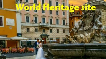 The historic center of Rome shows up as a World Heritage site.