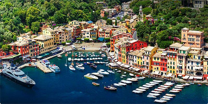 Portofino is available by ferry from Santa Margherita Ligure, Rapallo, Camogli, and Genoa.