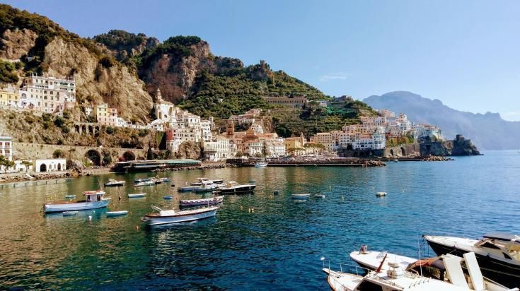 the coast at amalfi