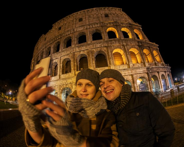 rome consists of many parks, smaller gardens, museums, art galleries and historical places like the Colosseum.